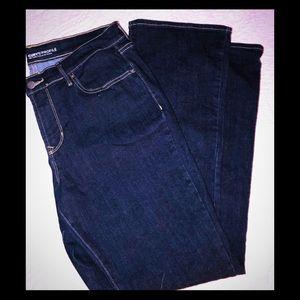 Old Navy Dark Denim Curvy Profile Bootcut Jeans